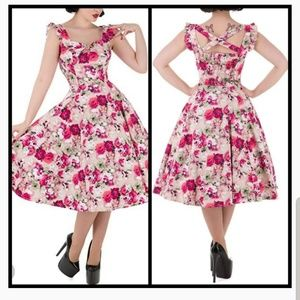 Modcloth Dresses - HEARTS & ROSES London Pink Champagne 1950s Dress